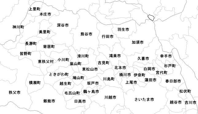 粗大ごみ回収の出張エリア / 埼玉県の北部へ伺います。